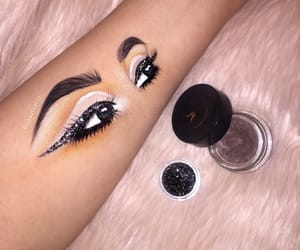 arm, sparkles, and cut crease image