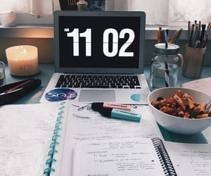 breakfast, studying, and candles image