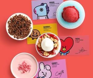 dessert, ice cream, and bt21 image