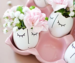 eggs, flowers, and cute image