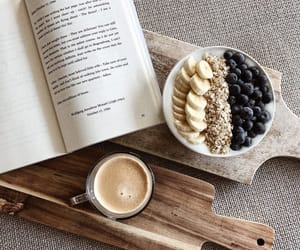 aesthetic, books, and smoothie image