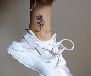 tattoo, nike, and rose image