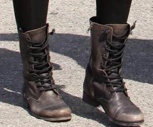 boots, brown, and combat boots image