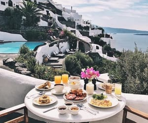 beautiful, breakfast, and flowers image