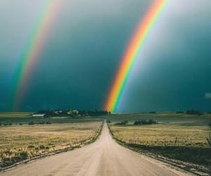 rainbow and road image