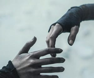 hands and dark image