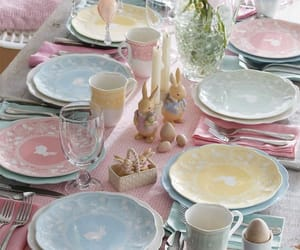 easter, pastel, and table image