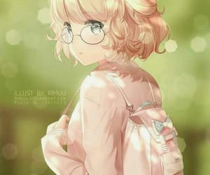 anime, anime girl, and glasses image