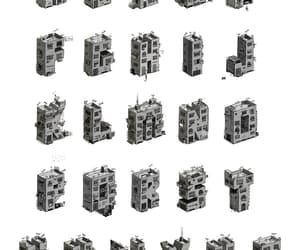 alphabet, artwork, and black and white image