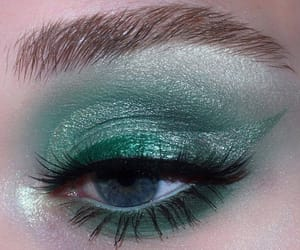 green, beauty, and eyes image