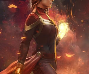 fanart, Marvel, and captain marvel image