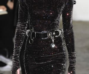 fashion, black, and runway image
