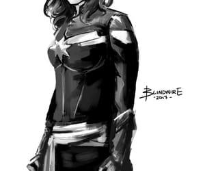 fanart, Marvel, and carol danvers image