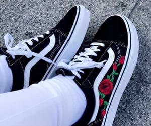 old skool, roses, and shoes image