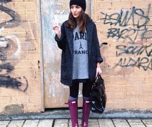 brunette, invierno, and hunter boots image