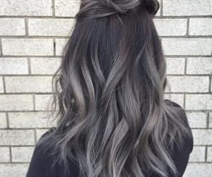 hair, grey, and black image
