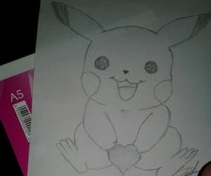 draw, drawing, and pikachu image