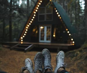 lights, couple, and nature image