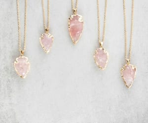 necklace, pink, and accessories image