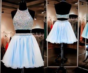 graduation dress, short prom dress, and 2 pieces prom dress image