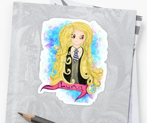 art, luna, and stickers image