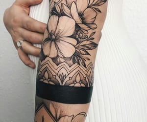 arm, ink, and dotwork image