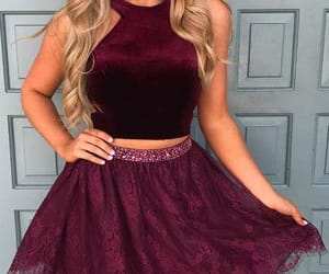 short prom dress and 2 pieces prom dress image