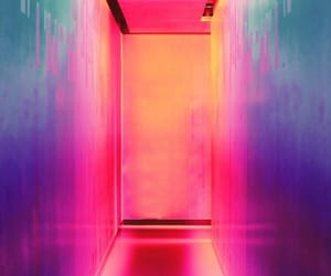 neon, wallpaper, and pink image