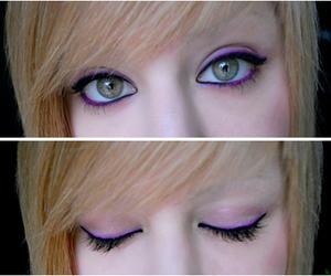 blonde, violet, and eyes image