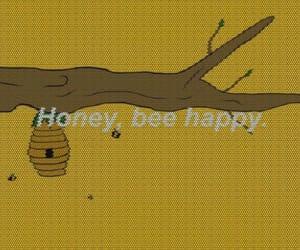 honey, bee, and happy image
