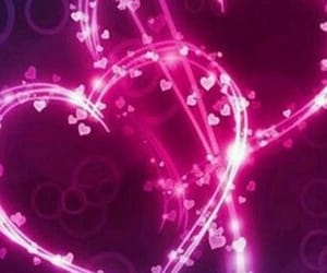 background, heart, and purple image