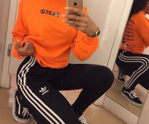 adidas, fashion, and orange image