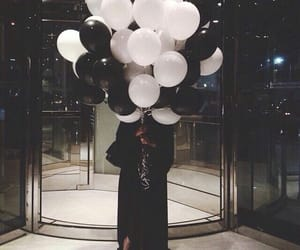 black, balloons, and luxury image