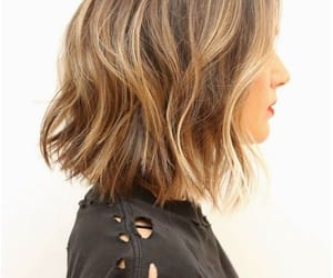 hair, short, and blonde image