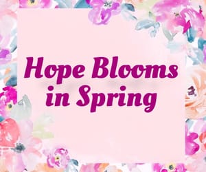 blooms, hope, and spring image