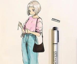 anime, digital drawing, and headphones image