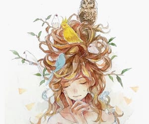 anime, birds, and colors image