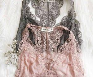 lace, fashion, and bra image