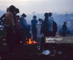 1969, bonfire, and woodstock image