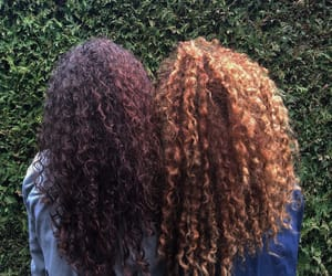 besties, curls, and curly image