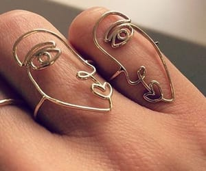 abstract, faces, and jewelry image
