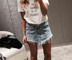 casual, woman, and jeans image