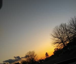 evening, sky, and sunset image