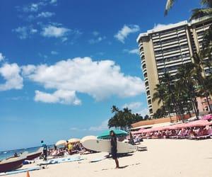 beach, Honolulu, and sun image
