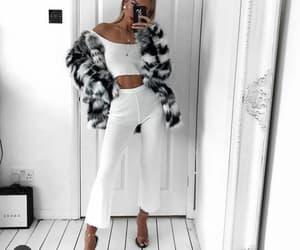 fashion, fur, and white image