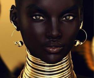 beauty, gold, and melanin image