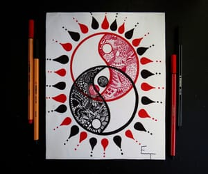 art, red, and black image