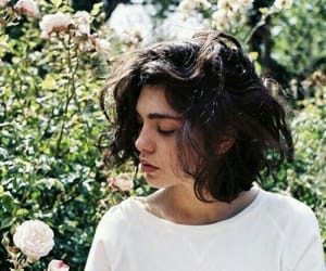 girl, flowers, and short hair image