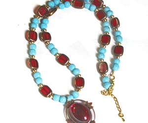 beaded necklace, long necklace, and necklace image