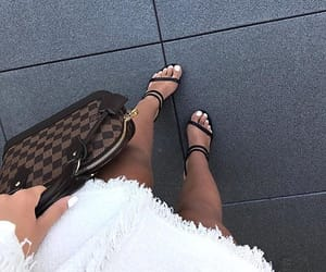 heels, Louis Vuitton, and bag image